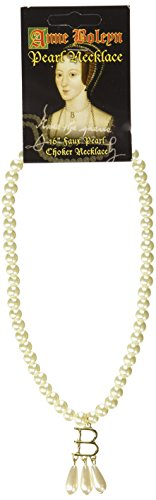 "Anne Boleyn (Ugly Betty) 16"" Pearl Choker Necklace - Authentic Replica"