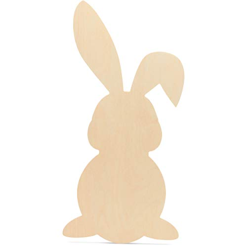 Wooden Easter Bunny Decor Cut Out, 20