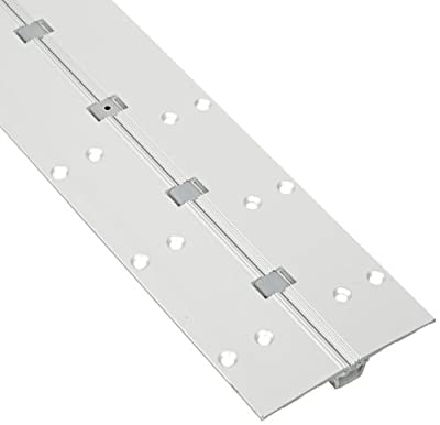 "Pemko Aluminum Full Mortise Short Leaf Continuous Hinge, Clear Anodized, 25/32""W x 7'L x 1-5/8""H"
