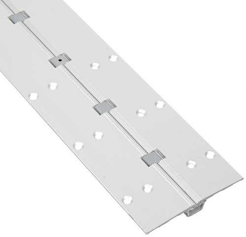Pemko Aluminum Full Mortise Short Leaf Continuous Hinge, Clear Anodized, 25/32