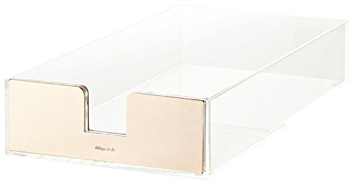 kate spade new york Acrylic Letter Tray, Gold 145230