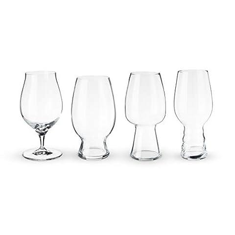 Spiegelau Craft Tasting Kit Glasses Gift Set for Beer Snobs, Set of 4