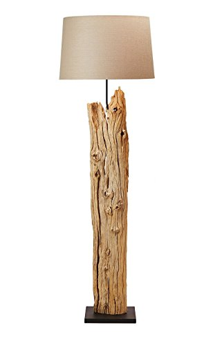 O'THENTIQUE Rustic Driftwood Floor Lamp 69"