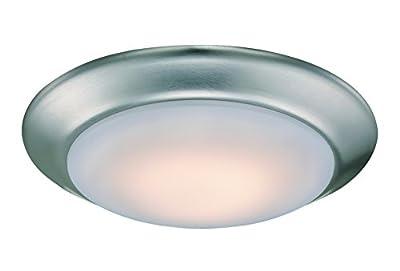 "Trans Globe Lighting LED-6-15 BN Vanowen Contemporary Flushmount, 7.5"", Indoor Brushed Nickel"