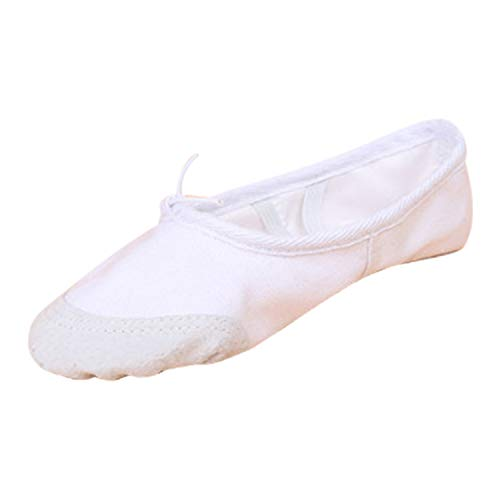 Gymnastic Soft Yoga Pumps Leather Adult's Sole White Girls Dance Frestepvie Children's Ballerinas Shoes Womens Canvas Ballet Flat Sizes RWwU81XYqx