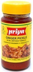 Priya Ginger Pickle in Oil (Without Garlic) - 10.6oz