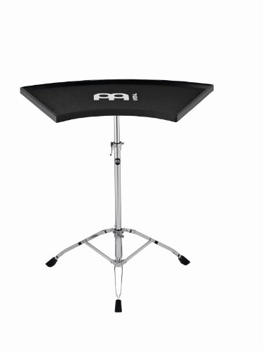 Meinl Percussion Table - Meinl Percussion TMPETS Double Braced Tripod Ergo Percussion Table with Fabric Anti-Slip Surface