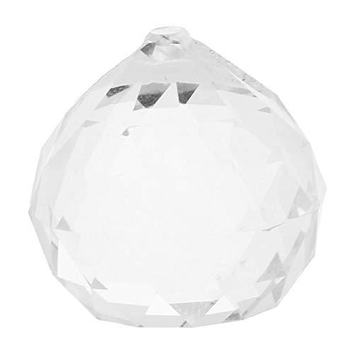 Chandelier Crystal - 20mm Chandelier Crystal Ball Prisms Lighting - Strands Lights Tear Ring Pendants Purple Parts Garland Stands Glass
