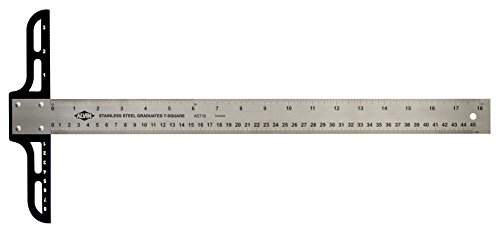 Alvin AST24 AST Series 24 inches Stainless Steel Graduated T-Square
