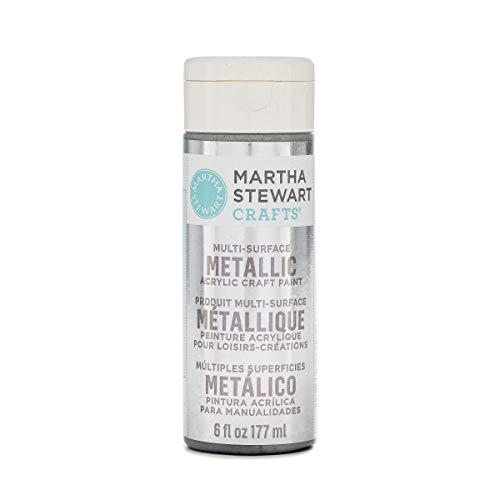 Martha Stewart Crafts 33584 Martha Stewart Multi-Surface Metallic Sterling, 6 oz Paint (Stewart Martha Metallic Paint)