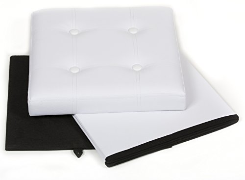 Amazoncom The FHE Group Tufted Folding Storage Ottoman 15 by 15