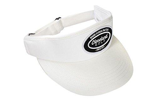 (Cleveland Golf Men's Seven 9 Visor Golf Visor, One Size, White/Black)