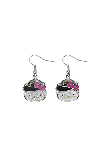 MLB Pittsburgh Pirates Hello Kitty Glitter Dangler Earrings