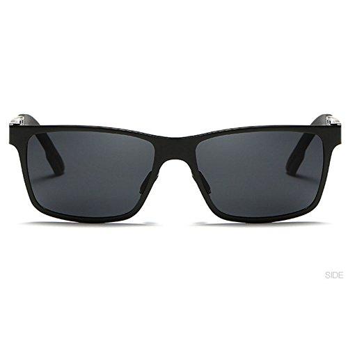 hommes de de polarisées unisexes Grey Lunettes femmes Dark des vintage pour aluminium soleil en Sun a0xZPqp