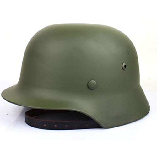 SYLPHID Green WW2 German Elite Wh Army M35 M1935 Steel Helmet Stahlhelm(Green)