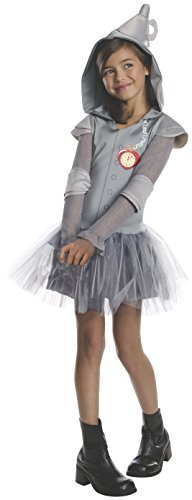 Tinman Costumes (Rubies Wizard of Oz Tin Man Hoodie Dress Costume, Child Large)