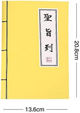 Xinrongqu Chinesisches Notizbuch Im Vintage-Stil, Zeilenseiten Fadenbindendes Notizbuch 60 Seiten Kreatives Schüler-Notizbuch Schulbürobedarf,C
