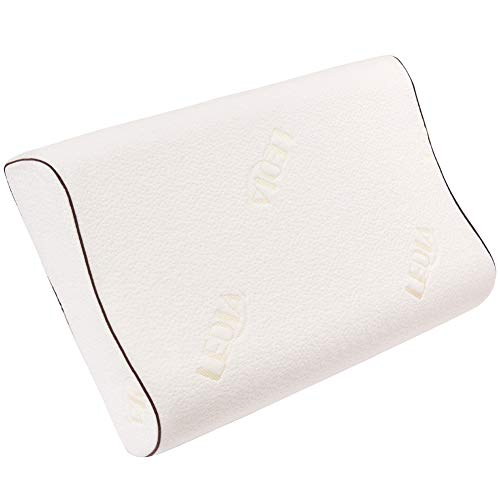 Latex Foam Pillow Ventilated Bed Sleeping Pillow with Cotton Washable Cover Standard Size