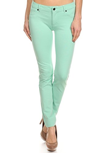 mint colored jeans - 7