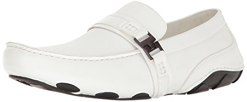 Kenneth Cole Mens Mens Toast 2 Me Mocassino Slip-on Bianco