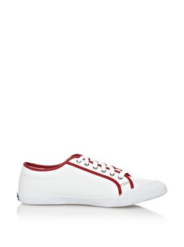 Deauville Sportif Coq Rosso Tricolore Lona Le Scarpe Bianco zSa6IT