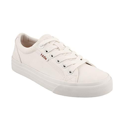 Taos Footwear Women's Plim Soul White Sneaker 9.5 M US (Best Looking Casual Sneakers)