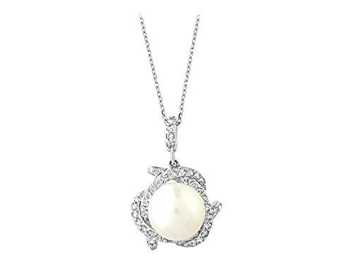 Birgie Diamants et Bijoux - Pendentif Perle et Diamants-Femme- or Blanc 201P0059