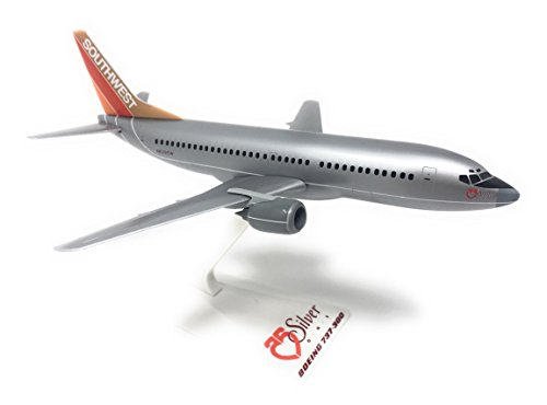 Miniatures Southwest Silver One Boeing 737-300 Airplane ()