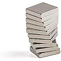 10 مغانط من بيستبيكس، مغانط من النيوديميوم الارضي النادر بشكل مستطيل ابعاد 10 ملم× 10 ملم × 3 ملم تستخدم للمشاريع…