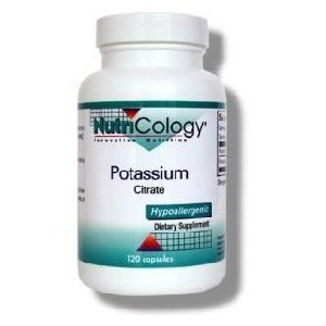 Nutricology citrate de potassium, Vegicaps, 120-Count