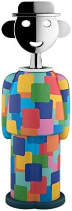 Alessi Alessandro M. AM23 29 - Sacacorchos de Diseño en Resina Termoplástica y Zama Cromada, Groningen