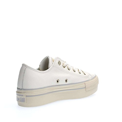Taylor Star Ox Leather Platform Chuck All Converse Bianco 558914C 1qP7g5x