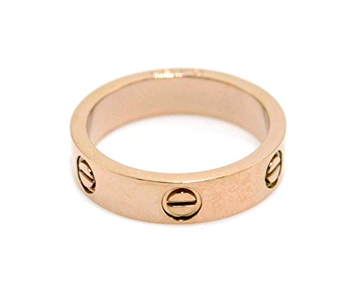 [Luxury Shine Celebrity Love Rose Gold-Plated Band Ring for Women (11)] (Love Ring)
