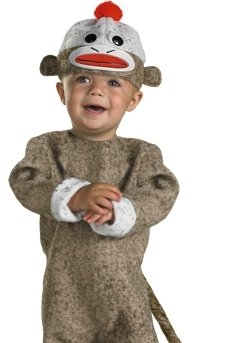 Disguise Sock Monkey Costume: Toddler's Size 12-18 Months