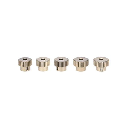 Brushless Pinion (Dreamyth GoolRC 64DP 3.175mm 26T 27T 28T 29T 30T Pinion Motor Gear Set for 1/10 RC Car Brushed Brushless Motor (Silver))
