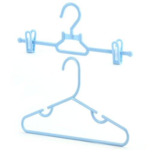 Hangerworld Set of 20 Blue Closet Plastic Coat Hangers for Kid's Clothes - 11.8 Inches by HANGERWORLD