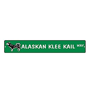 "Aluminum Metal Street Sign Alaskan Klee Kai Dog Way Funny and Novelty 18""x4"" 11"