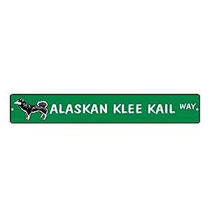"""Aluminum Metal Street Sign Alaskan Klee Kai Dog Way Funny and Novelty 18""""x4"""" 12"""