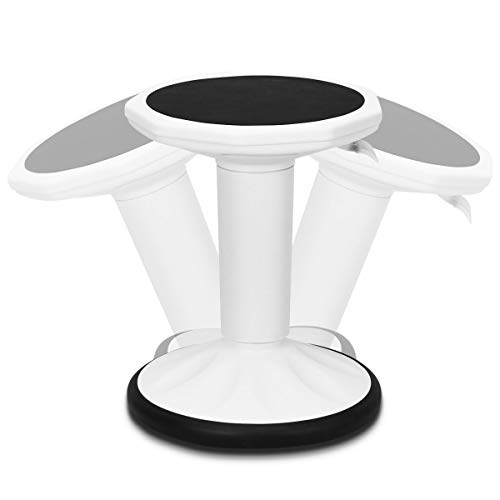 Giantex Wobble Chair Adjustable-Height Active Learning Stool Sitting Balance Chair for Office Stand Up Desk (White)