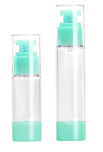 2PCS Green Head Plastic Empty Airless Pump Emulsion Cosmetic
