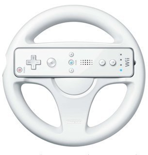 Ywei Game machine accessories White Steering Wheel For Nintendo Wii Mario Kart Racing Game Remote Controller
