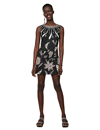 Black Kira 2000 Robe Woman Femme Dress Noir Desigual Sleeveless qSawvxfTTP