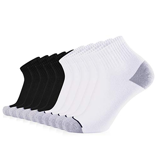 JOURNOW Men's Cotton Moisture Wicking Extra Heavy Cushion Low, Mix, Size 10-13