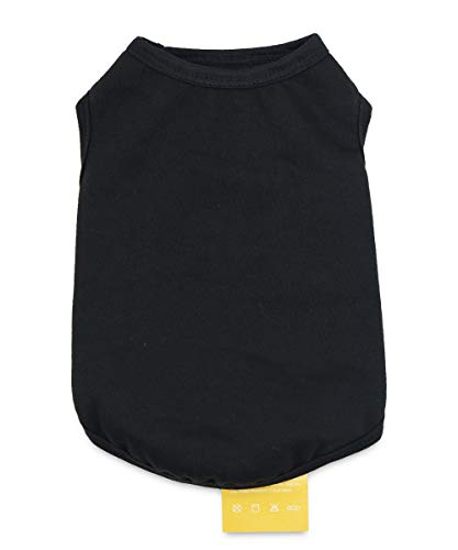 (Pet Dog Blank Vest Warm Fleece Tshirts Puppy Clothes for Small Dogs Black)