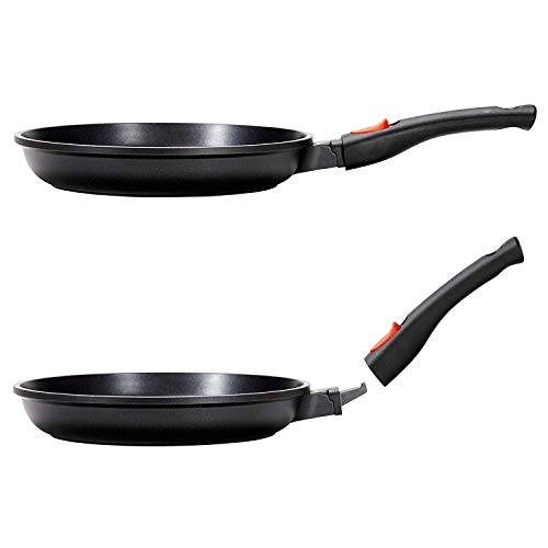 Cleverona Essential Nonstick 10.25 Inch Fry Pan with SecureSnap Detachable Handle