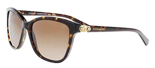 Coach Womens Sunglasses (HC8187) Tortoise/Brown Acetate - Polarized - 54mm