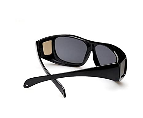 Dlpj all Wraped Sunglasses Night Vision occhiali per la guida e sport outdoor anti-blowing sabbia occhiali da sole, Black
