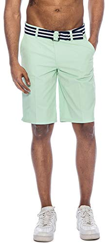 China Jam (TR Fashion Men's Bahamas Belted Walking Shorts (Peppermint, 34))