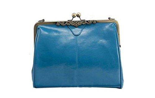 MAMAPA bandolera 1 unidad estilo Deep Brown antiguo Bolso estilo Azul retro 6rHxw56qO
