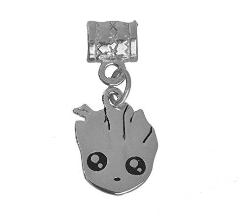 New Baby Groot charm Sterling Silver 925 jewelry bead Guardians of the Galaxy II (Charm Silverado Bead)